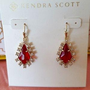 Brand New Kendra Scott Juniper Berry Glass Earring